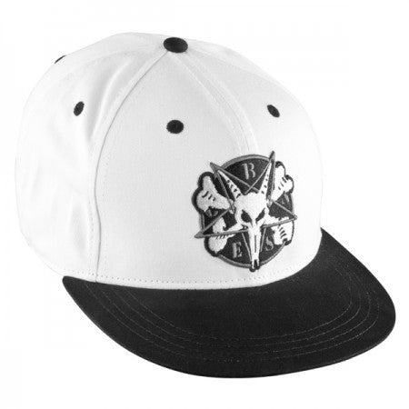 Bones Pentagram II Men's Hat - Black/White