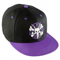 Bones Pentagram II Snapback Men's Hat - BlacK/Purple
