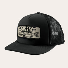 Slave Bass Destruction Mesh Trucker Hat - Black