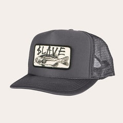 Slave Bass Destruction Mesh Trucker Hat - Grey
