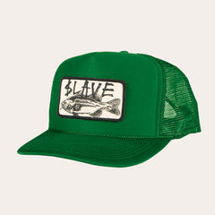 Slave Bass Destruction Mesh Trucker Hat - Green