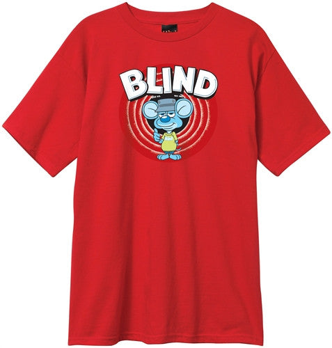 Blind Looney Rat S/S Mens T-Shirt - Red - Small