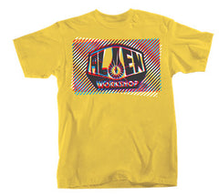 Alien Workshop Interlaced Short Sleeve Men's T-Shirt - Lemon - Medium