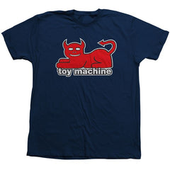 Toy Machine Devil Cat - Navy - Men's T-Shirt
