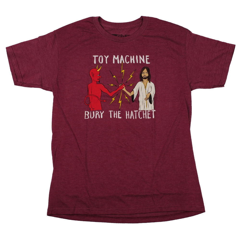 Toy Machine Bury The Hatchet II Men's T-Shirt - Heather Burgundy