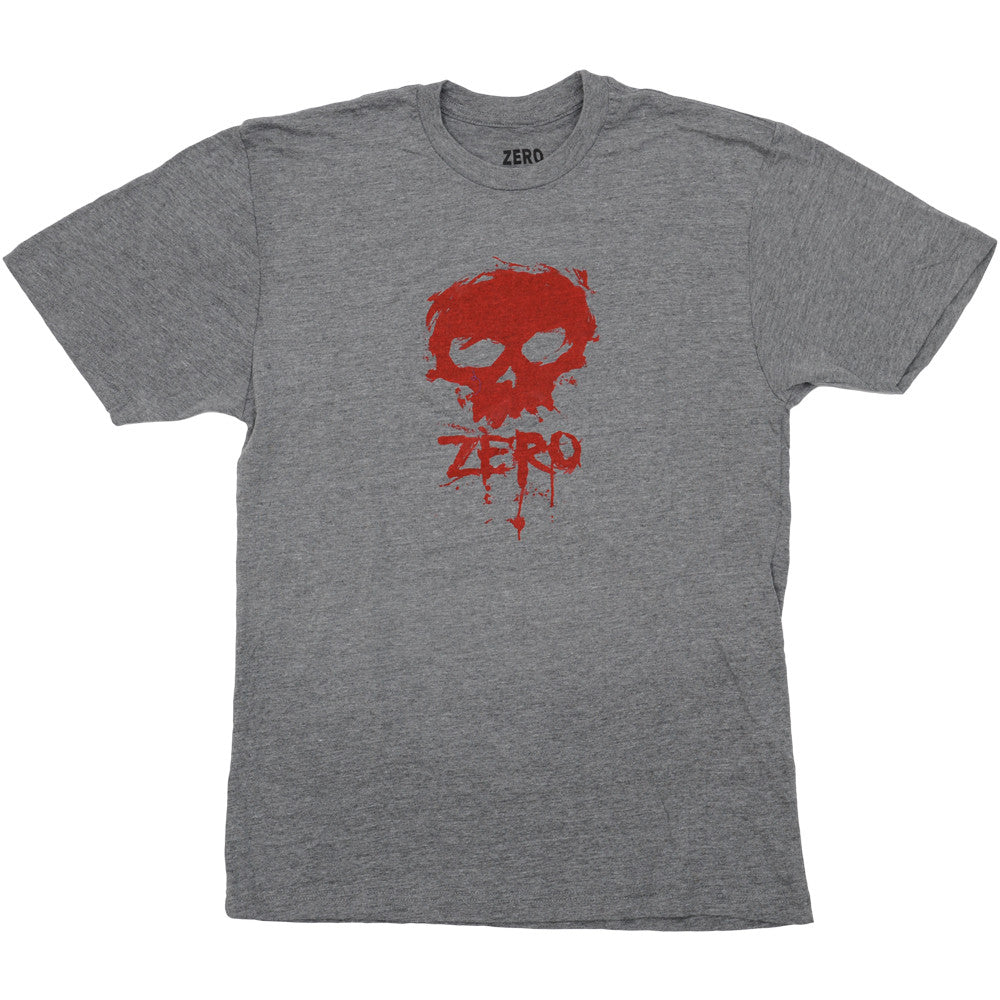 Zero Blood Skull Premium S/S Mens T-Shirt - Heather Grey