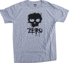 Zero Blood Skull S/S Men's T-Shirt - Heather Grey/Black