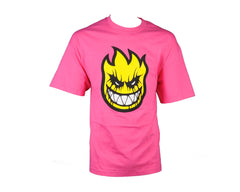 Spitfire S/S Death Mask Men's T-Shirt- Hot Pink - Small