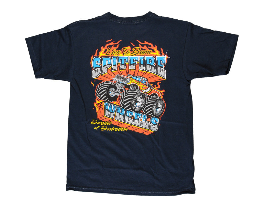 Spitfire S/S Monster Men's T-Shirt - Navy