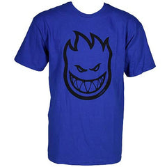 Spitfire Bighead S/S Men's T-Shirt - Royal/Black