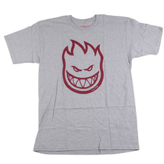 Spitfire Bighead S/S - Athletic Heather/Burgundy - Men's T-Shirt