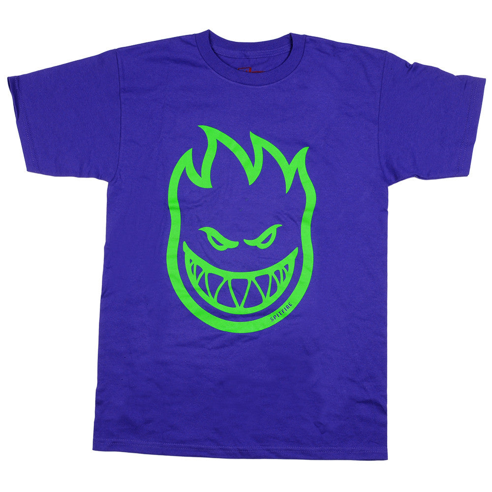 Spitfire Bighead S/S - Purple/Green - Men's T-Shirt
