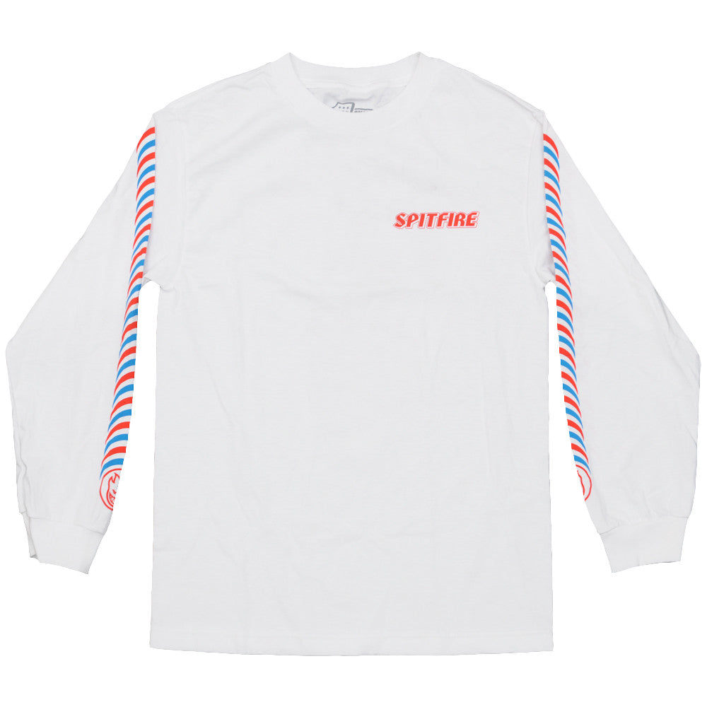 Spitfire Tripper L/S - White - Men's T-Shirt