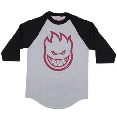 Spitfire Bighead 3/4 Sleeve - Athletic Heather/Black - Men's T-Shirt