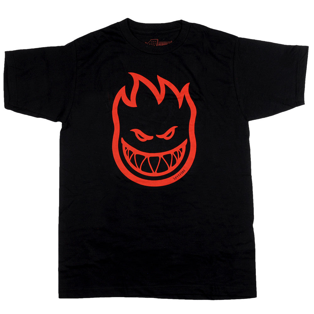 Spitfire Bighead S/S - Black/Red - Men's T-Shirt