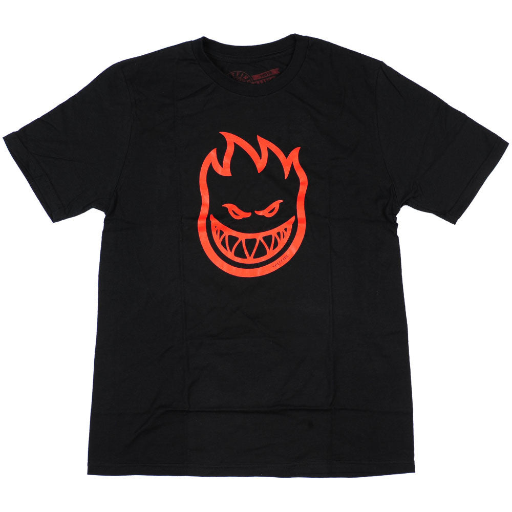 Spitfire BigHead S/S Youth T-Shirt - Black/Red
