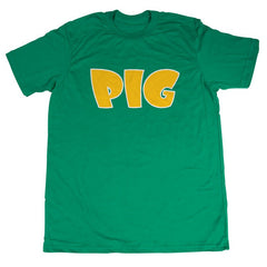 Pig Tee Men's T-Shirt - Green/Yellow