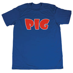 Pig Tee Men's T-Shirt - Royal/Red