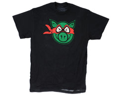 Pig Ninja S/S Men's T-Shirt - Black