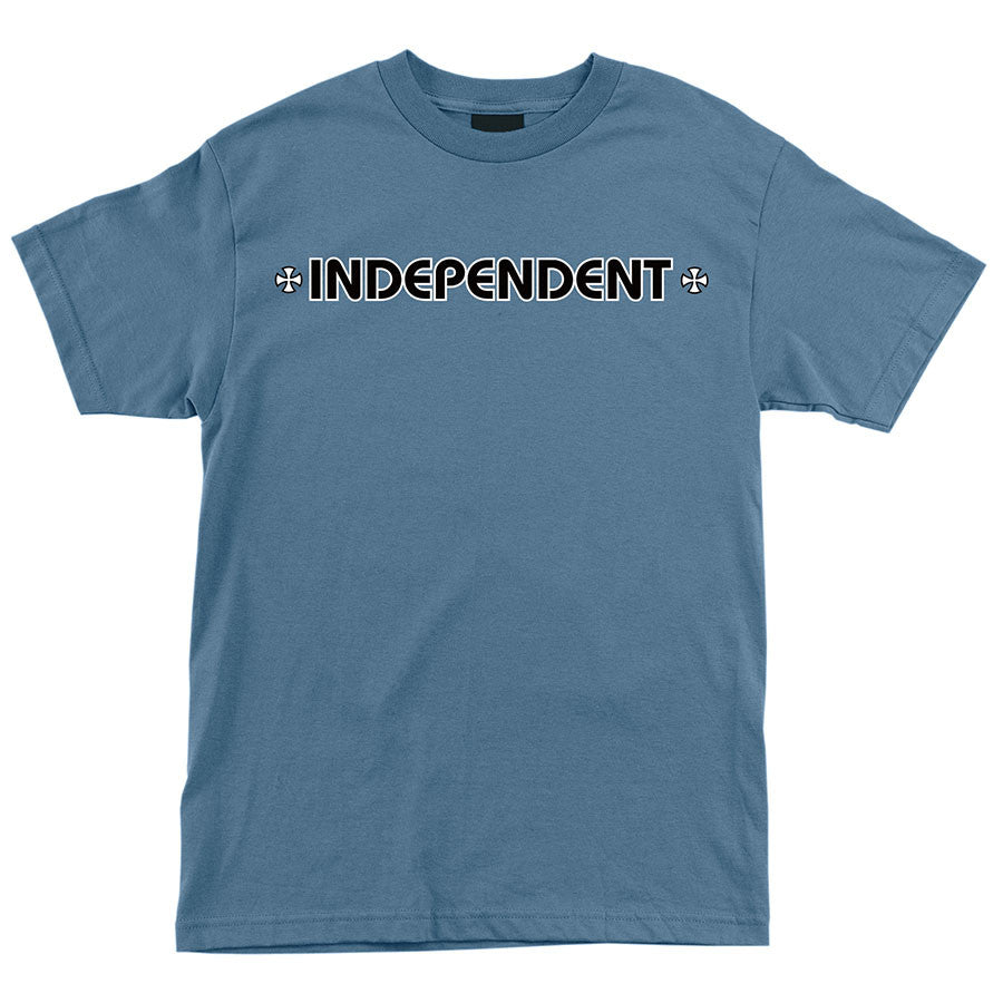 Independent Bar/Cross Regular S/S Mens T-Shirt - Slate