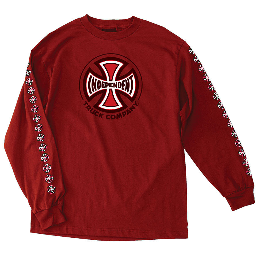 Independent Truck Co Regular L/S Long Sleeve T-Shirt - Red - Small