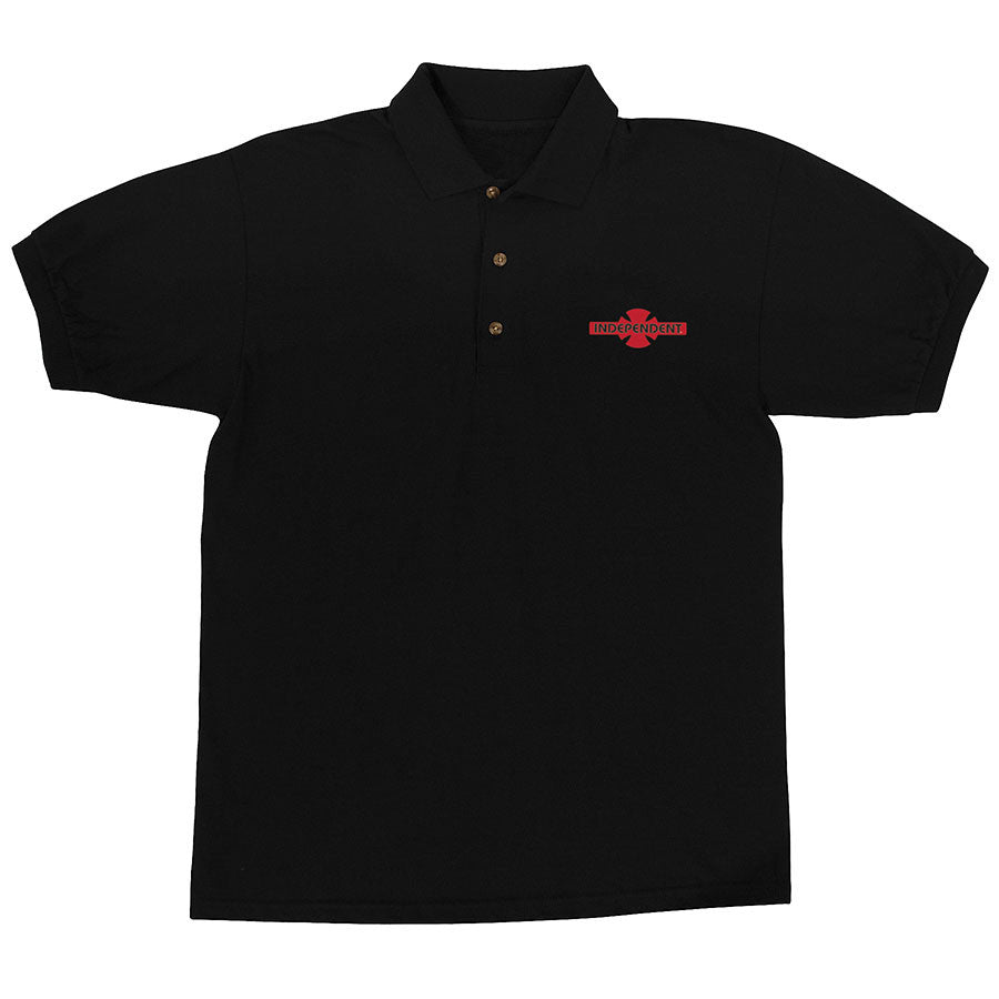 Independent O.G.B.C. Chest Polo S/S Men's T-Shirt - Black/Red