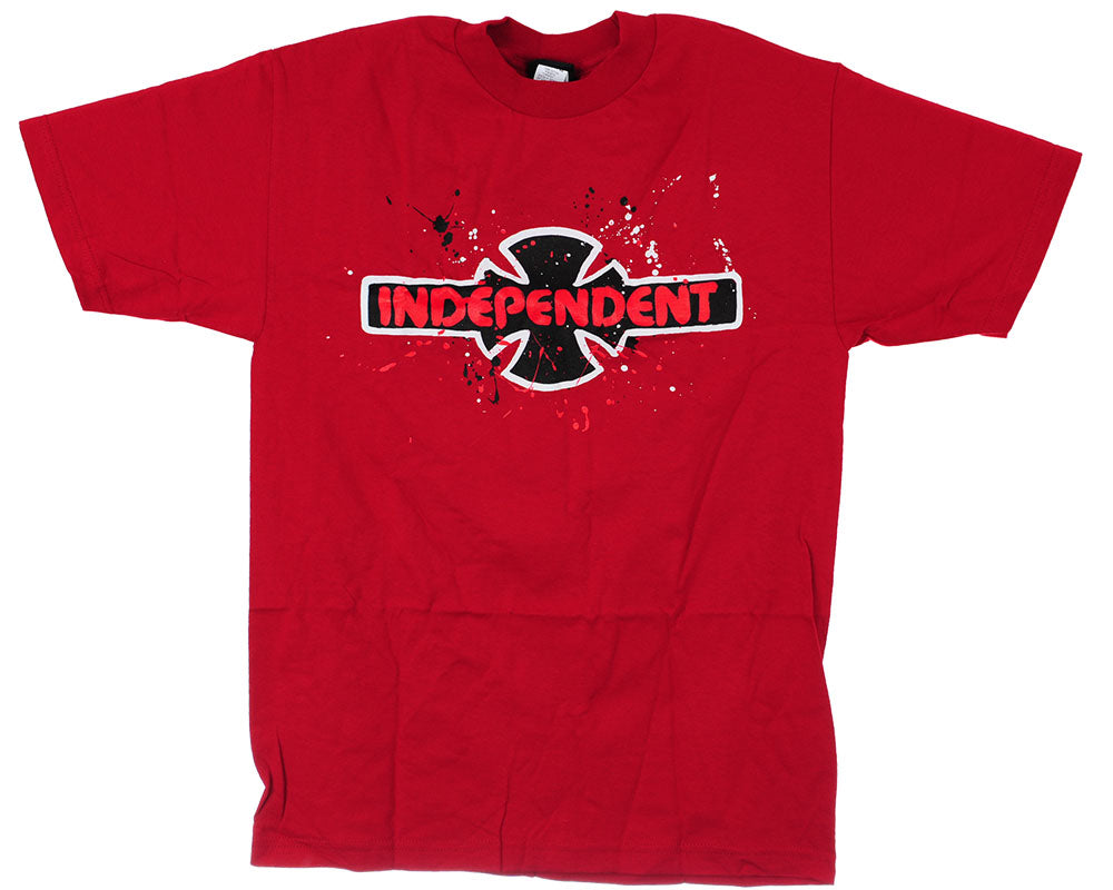 Independent Splatter S/S Men's T-Shirt - Red