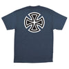 Independent Bar/Cross Regular S/S Men's T-Shirt - Navy Heather