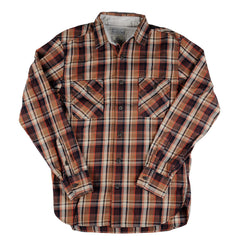 Lucky Ridge Plaid Workwear Shirt - Orange - Mens T-Shirt