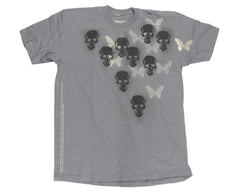 Destructo Skull Butterfly Men's T-Shirt - Grey