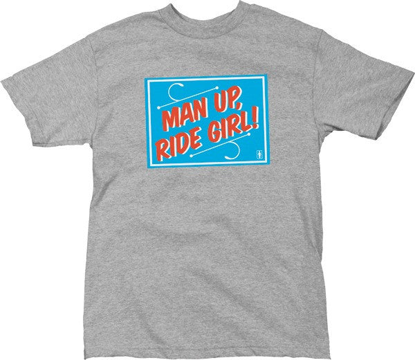 Girl Man Up Men's T-Shirt - Grey/Blue