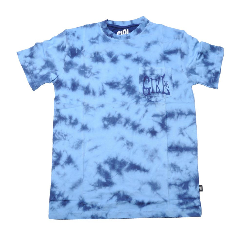 Girl Grateful Men's T-Shirt - Blue Tie Dye