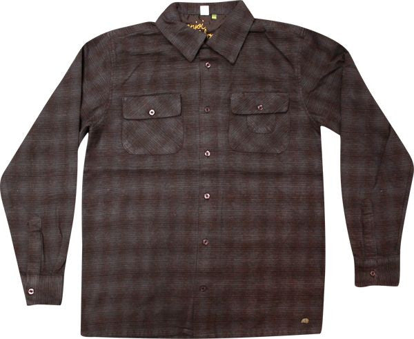 Enjoi Panda Flannel L/S Woven T-Shirt - Burgundy