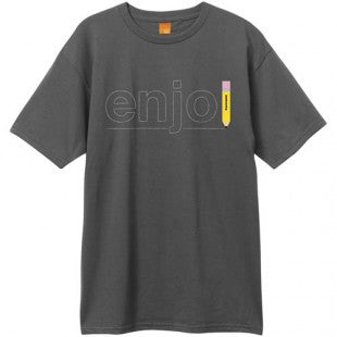 Enjoi Pencil S/S - Men's T-Shirt - Charcoal