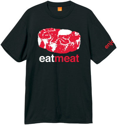 Enjoi Eat Meat Premium S/S Men's T-Shirt - Black