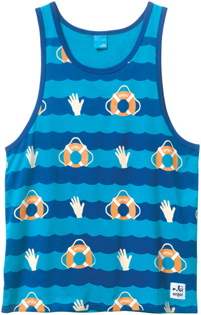Enjoi No Diving Men's Tank Top - Blue