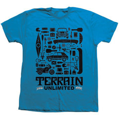 Habitat Terrain Unlimited S/S Men's T-Shirt - Blue
