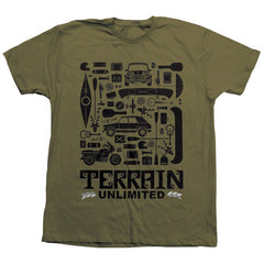 Habitat Terrain Unlimited S/S Men's T-Shirt - Olive