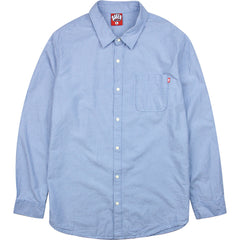 Baker Crosby Oxford Button Up Men's T-Shirt - Blue