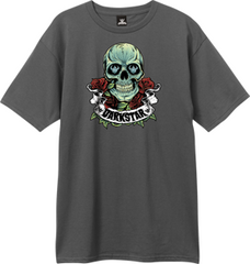 Darkstar Skull Roses S/S - Charcoal - Men's T-Shirt
