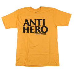 Anti-Hero Black Hero Slim S/S - Mustard/Black - Men's T-Shirt