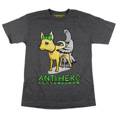 Anti-Hero Pigeon Dog S/S - Charcoal Heather - Men's T-Shirt
