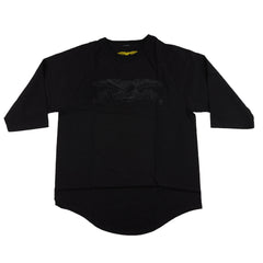 Anti-Hero Basic Eagle 3/4 Sleeve - Black/Black - Men's T-Shirt