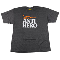 Anti-Hero Sorry S/S - Charcoal Heather/White Orange - Men's T-Shirt
