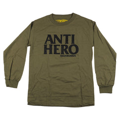 Anti-Hero Black Hero L/S - Military Green/Black - Men's T-Shirt