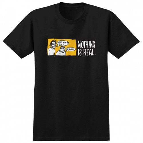 Real Nothing Is Real S/S Men's T-Shirt - Black