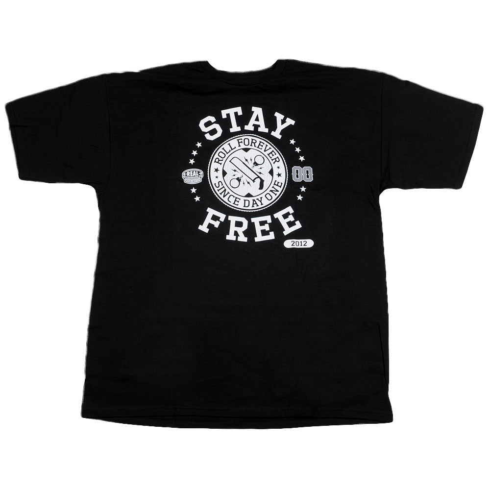 Real Stay Free S/S - Men's T-Shirt - Black