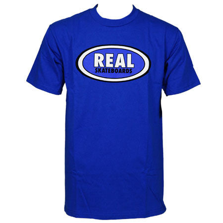 Real OG Oval S/S - Men's T-Shirt - Royal Blue