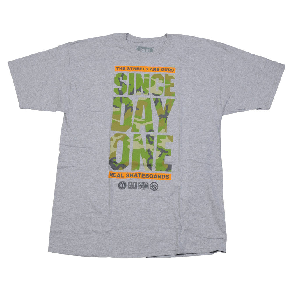 Real Since Day One S/S - Men's T-Shirt - Camo Print/Athletic Heather