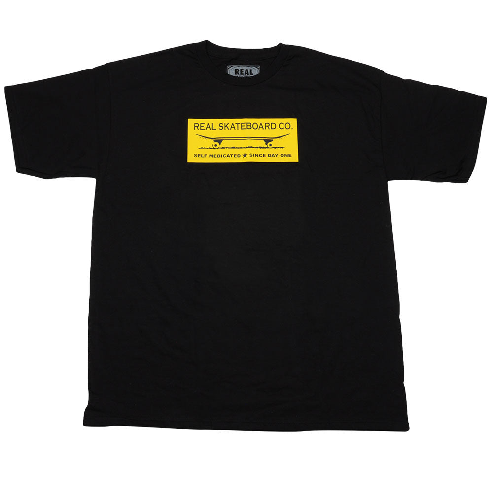 Real SDO Block S/S - Men's T-Shirt - Black/Yellow